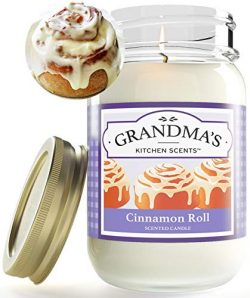 Cinnamon Roll Highly Scented Soy Candles | One Pint Jar | Hand Made in The USA | Delicious Smell ...