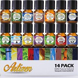 Artizen Aromatherapy Top 14 Essential Oil Set (100% PURE & NATURAL) Therapeutic Grade Essent ...