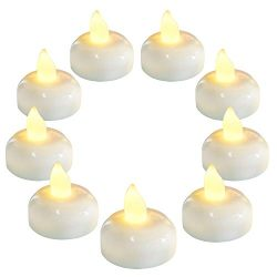 Homemory 36 Pack Flameless Floating Candles, Warm White Led Flickering Tealight Candles in Bulk, ...