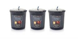 Lot of 3 Yankee Candle CRISP FALL NIGHT Sampler Votive Candle 1.75 oz