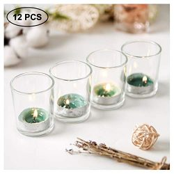 SUPREME LIGHTS ·2017· Mercury Glass Votive Candle Holders Set of 12, Tealight Holders Bulk, Clea ...
