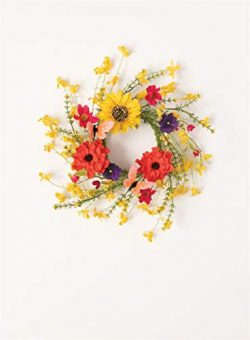 Sullivans Faux Wildflower Mix Candle Ring/Mini Wreath