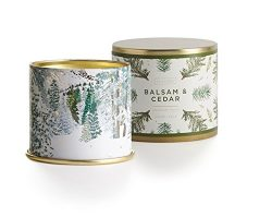 Illume Balsam and Cedar Large Tin Candle, 11.8 Ounces