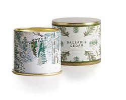 Illume Balsam and Cedar Large Tin Candle, 11.8 Ounces
