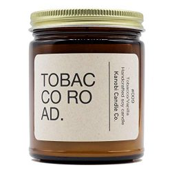 Kanobi Candle Co. Tobacco Road Scented Soy Candle: 100% All Natural Soy Wax, Phthalate-Free Prem ...