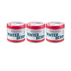 Santa's Naturals Winter Berry Christmas Candle Trio Pack | Warm Cider Fragrance | Made wit ...
