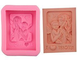 Mother's Day Silicone Mold I Love Mom Mother Holding Baby Craft Art DIY Molds for Soap Lot ...