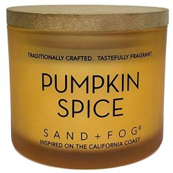 Pumpkin Spice Scented Candle with Wooden Top