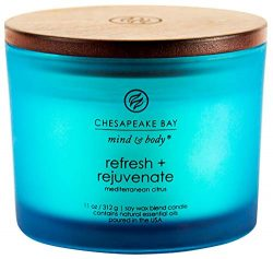 Chesapeake Bay Candle Scented Candle, Refresh + Rejuvenate (Mediterranean Citrus), Coffee Table