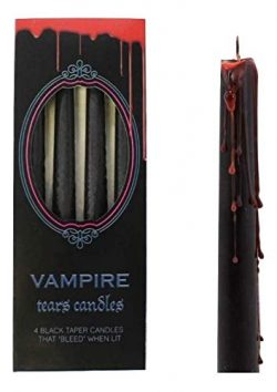 Something different Vampire Tears Black Candles – Set of 4 Bleeding Candles – Gothic ...