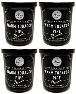 4 Pk Dw Home Warm Tobacco Pipe Richly Scented Candles Small 4 Oz Size
