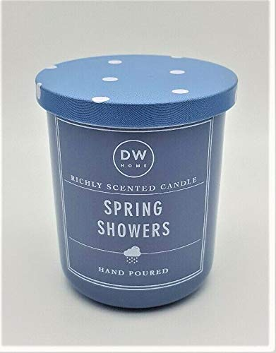 DW Home Richly Scented Scented Spring Showers Candle in Votive Jar with Lid, 4 Oz.