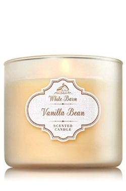 Bath & Body Works White Barn Vanilla Bean 3-Wick Jar Candle, 14.5oz