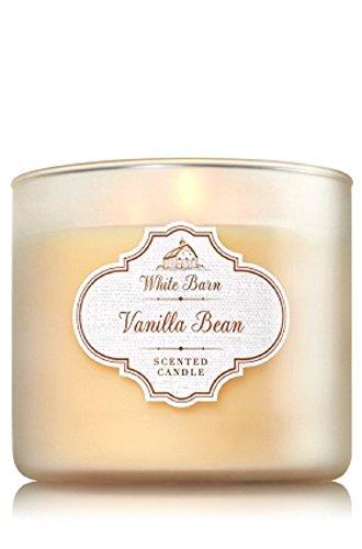 Bath & Body Works White Barn Vanilla Bean 3-Wick Jar Candle, 14.5oz