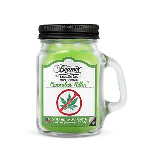 beamer 4oz Mini Cannabis Killer Scented Candle Co. Ultra Premium Jar Candle. 30 Hr Burn Time. US ...