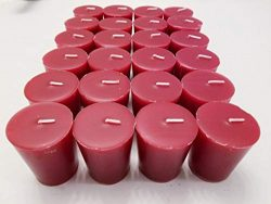 Old Candle Barn 24-Piece Votive Candles – Apple Spice Scented 15 Hour – Perfect Red  ...