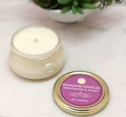 Sweetgrass & Violet Scented Soy Candle – Mother's Day Gift – Candle for Mo ...