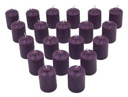 Purple Plumeria Scented Votive Candles – 15 Hour Long Burn Time – Textured Finish &# ...