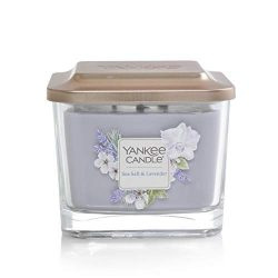 Yankee Candle Elevation Collection with Platform Lid Sea Salt & Lavender Scented Candle, Med ...