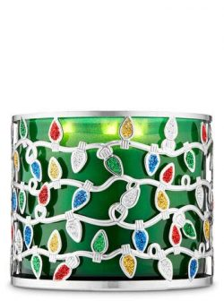 Christmas Lights 3-Wick Candle Holder