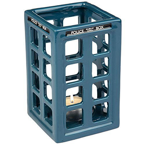 Doctor Who Tardis Tea Light Candle Holder – Holds Votive or Tea Light Candles – Cera ...