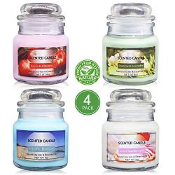 Uwax 100% Soy Wax Jar Candles, Scented Candles Perfect Woman and Man Gifts (Sweet Vanilla Cake,  ...