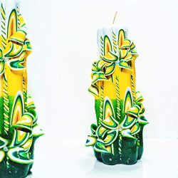 Exotic Flowers – Carved candle 100% handmade – Perfect Birthday gift for Mom Grandma ...
