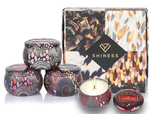 Large Size Aromatherapy Luxury Scented Candles Essential Oils Gift for Women Highly Scented & ...